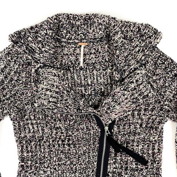 Free People Sweaters | Free People Pointelle Peplum Black